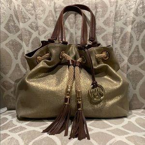 Michael Kors Gold Woven Handbag